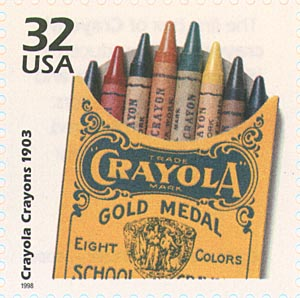 Crayon commemorative stamp