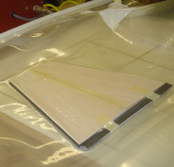 profiles bonded in vacuum bag